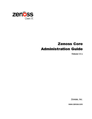 Zenoss Core Administration r500 Latest