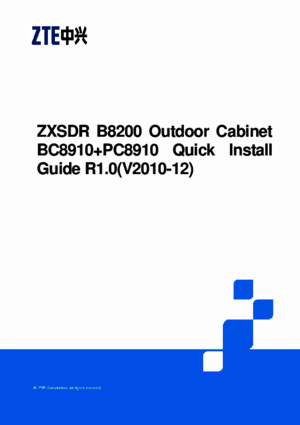 ZXSDR B8200 Outdoor Cabinet BC8910 PC891