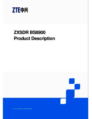 ZXSDR BS8900 Product Description
