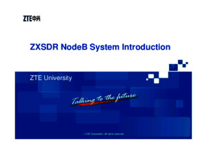 ZXSDR Node B Structure and Principlepdf