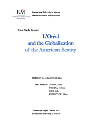 Case Study Report on 'L'Oreal and the Globalization of American Beauty'