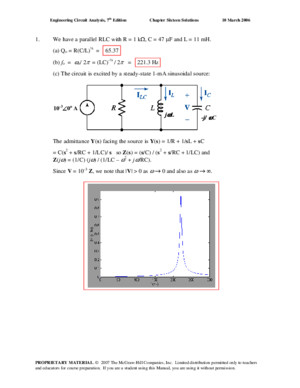 Chapter 16 Solutions to Exercises - Circuit Analysis and Design