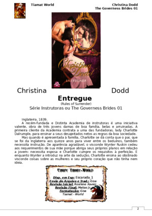 Christina Dodd - The Governess Brides 01 - Entregue (Rules of Surrender)(Tiamat-World)