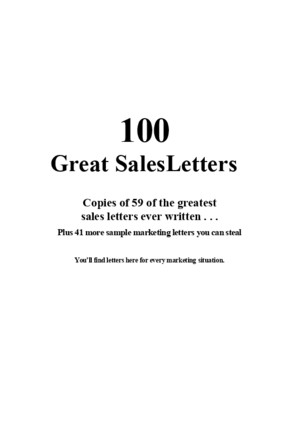 100 Greatest Sales Letters