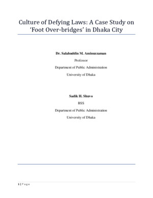 Complete Research Paper on Foot Over Bridge