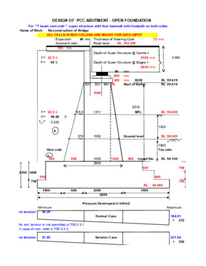 Design of Pcc Abutment - Open Foundation