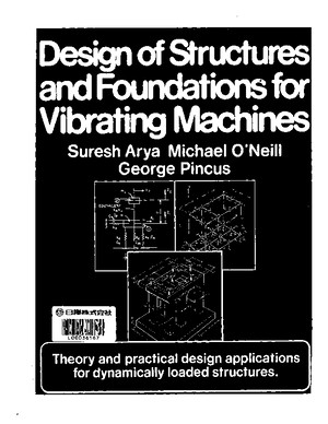 Design of Structures Foundations for Vibrating Machinespdf