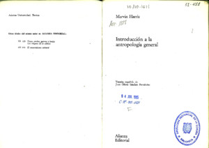 125738788 Introduccion a La Antropologia General Marvin Harris PDF