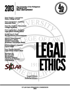 2014 Bar Reviewer in Legal and Judicial Ethics
