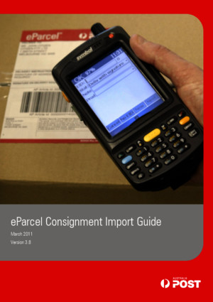 eParcel Consignment Import Guide v3 8