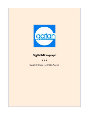 Gatan Digital Micrograph manual