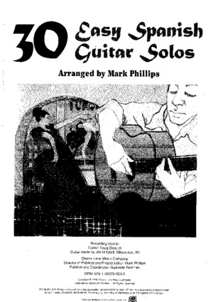 30 Easy Spanish Guitar Solos, arr Mark Phillipspdf