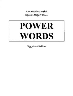 John Carlton - Power Words Special Report