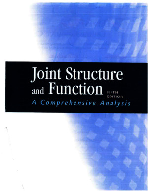 Joint Structure and function 5th editionpdf