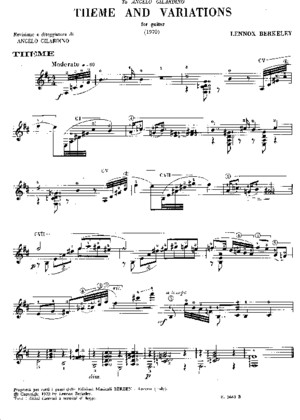 Lennox Berkeley - Theme and Variations