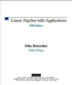 Linear Algebra With Applications 5th Edition Otto Bretscher