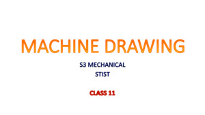 Machine Drawing S3 Mech [Class 11]