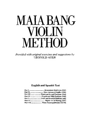 Maia Bang Violin Method - Part 1
