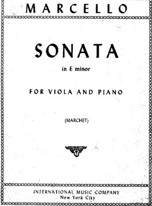 Marcello - Sonata in E Minor (Viola and Piano)
