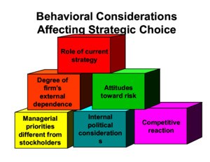 Mba 3 Behavioral Considerations Affecting Strategic Choice