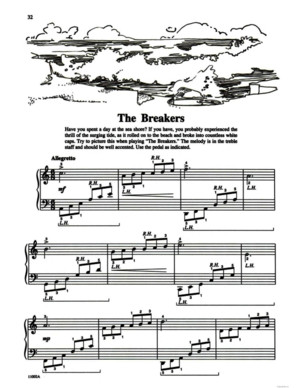 Michael Aaron Piano Course Lessons Grade 2 No23 The Breakers (P32)