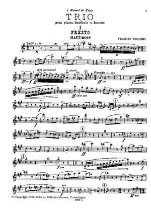 Poulenc - Trio for Oboe, Bassoon, And Piano