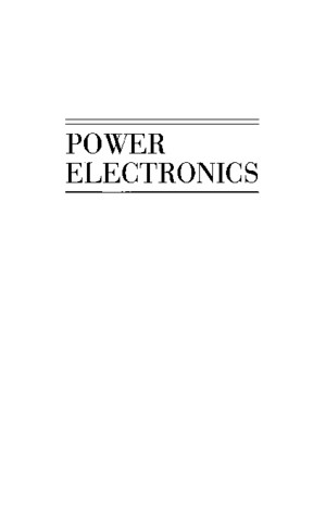 Power Electronics Mohan