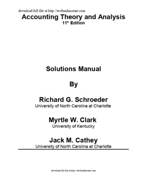 Solution Manual for Financial Accounting Theory and Analysis Text and Cases, 11th Edition