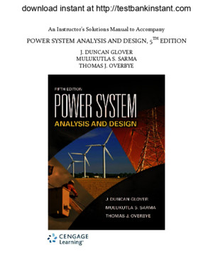 Solution Manual for Power System Analysis and Design, 5th Edition pdf