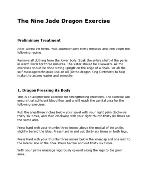 The Nine Jade Dragon Exercise