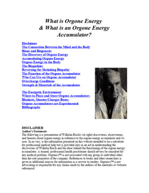 What is Orgone Energy